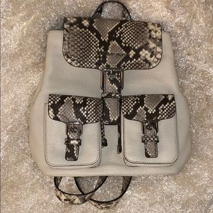 Michael Kors Leather Embossed Backpack